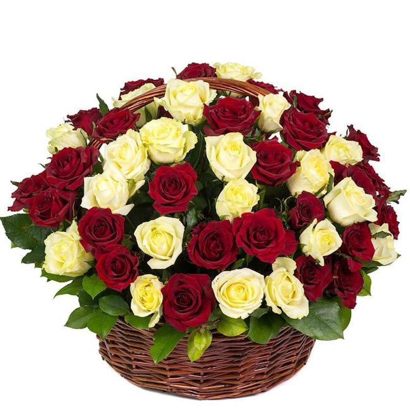 """Корзина роз """"С любовью"""""""