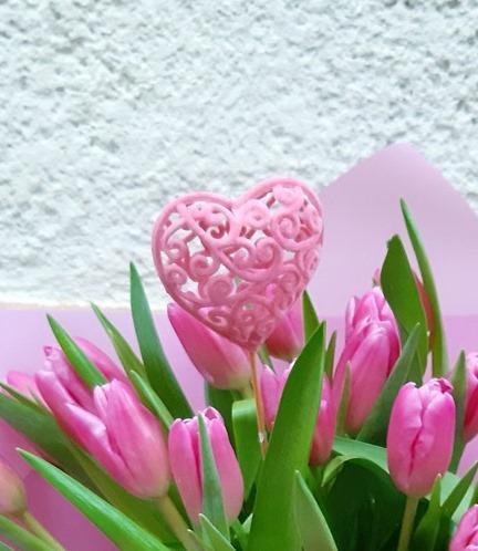 Сердечко розовое