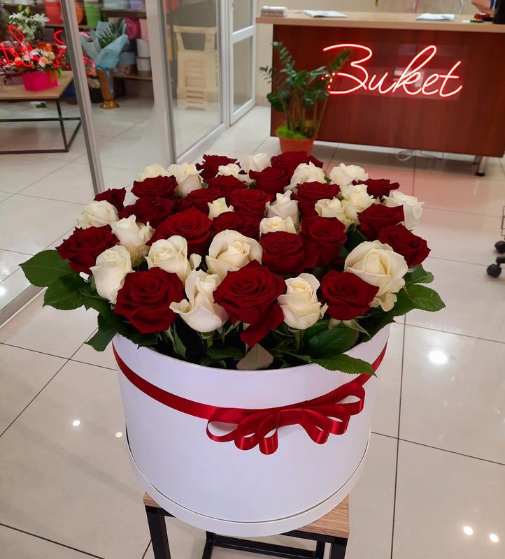"""Розы в коробке """"Диана"""""""